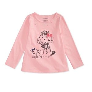 NWT New Impressions Pink Poodle Shirt Top 18mo